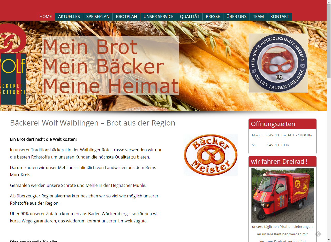 Projekt Bäckerei Wolf Waiblingen
