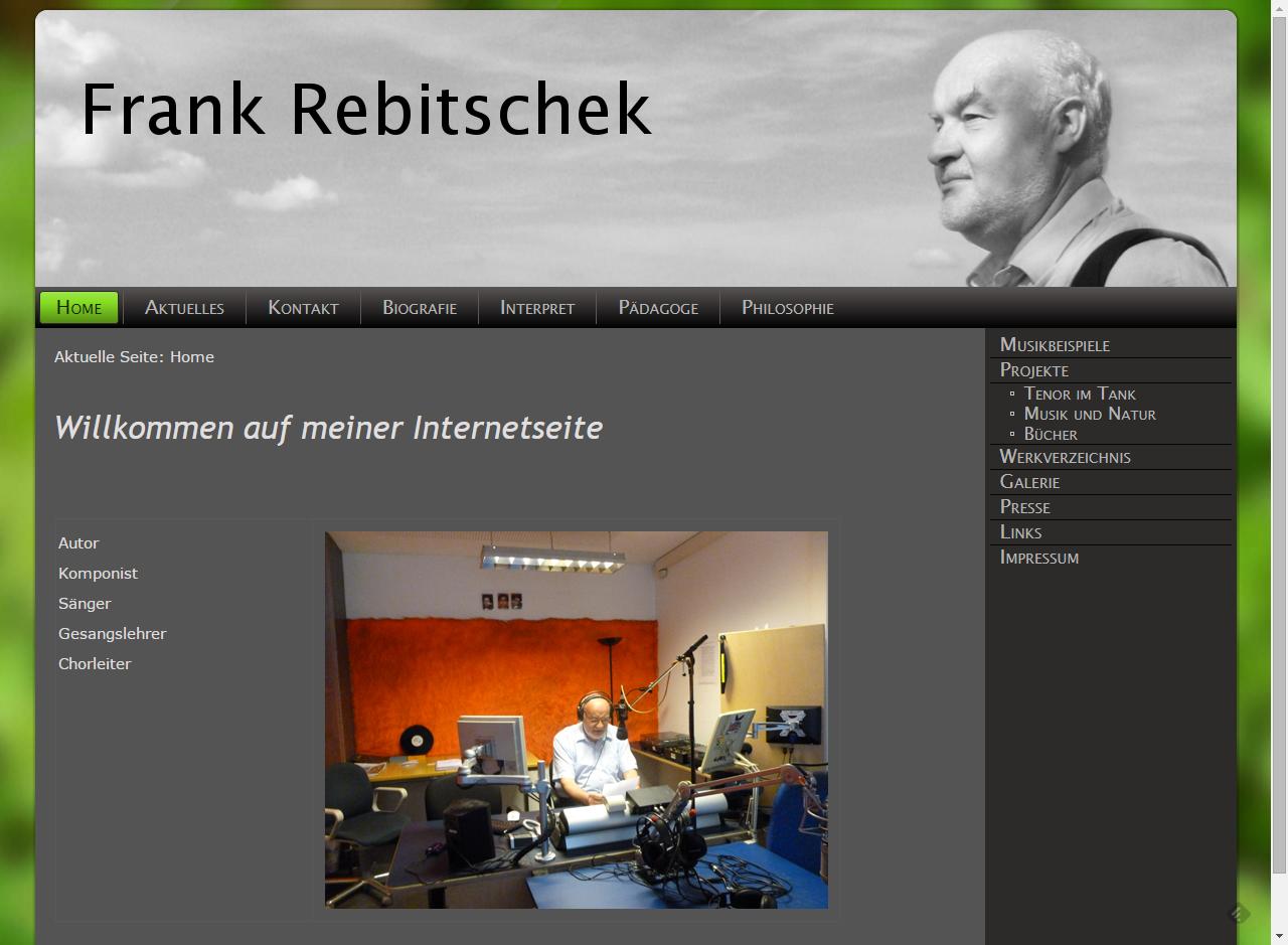 Frank Rebitschek Autor Komponist Saenger Chorleiter