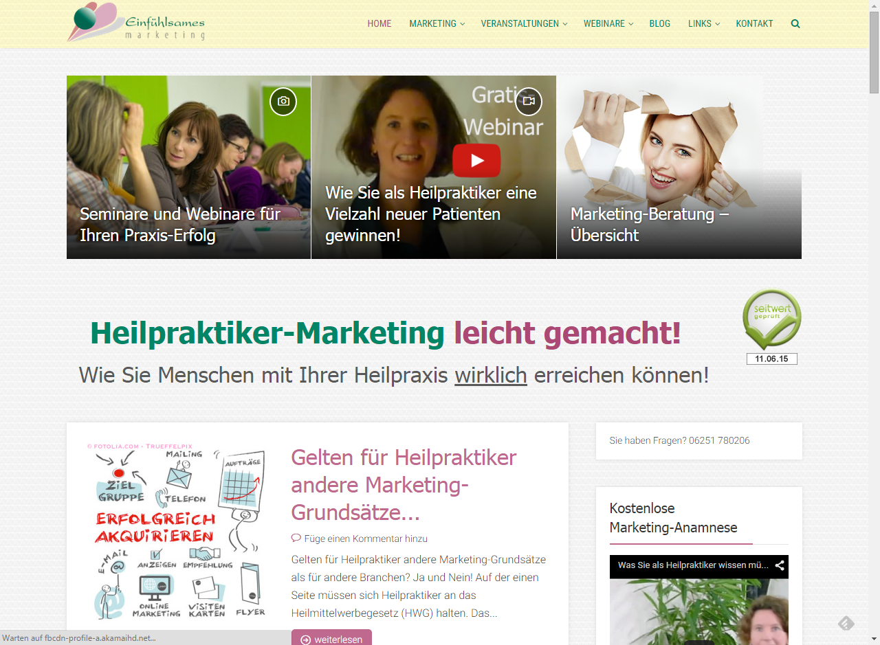 Projekt Heilpraktiker-Marketing Gabriele Ermen