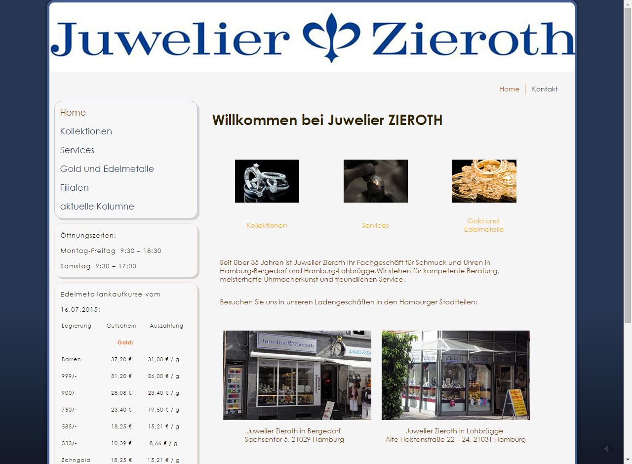 Projekt Juwelier Zieroth Hamburg