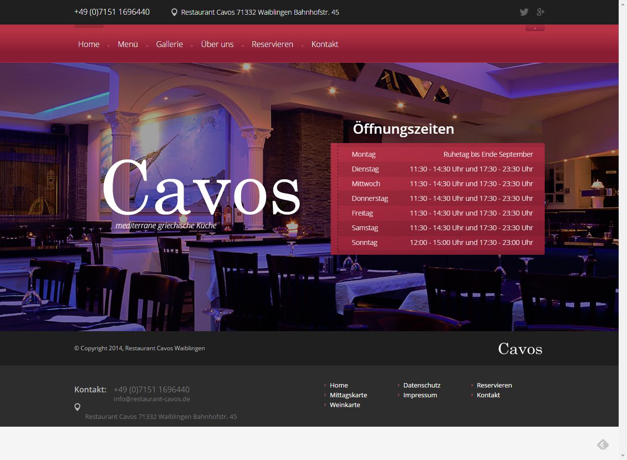 Restaurant Cavos Waiblingen mediterrane Kueche