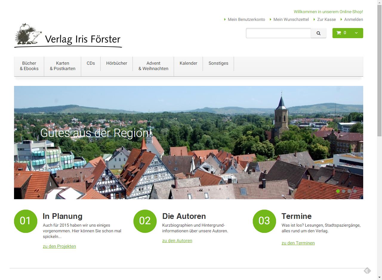 Projekt Verlag Iris Förster Waiblingen Litertur aus der Region – Verlag Iris Förster