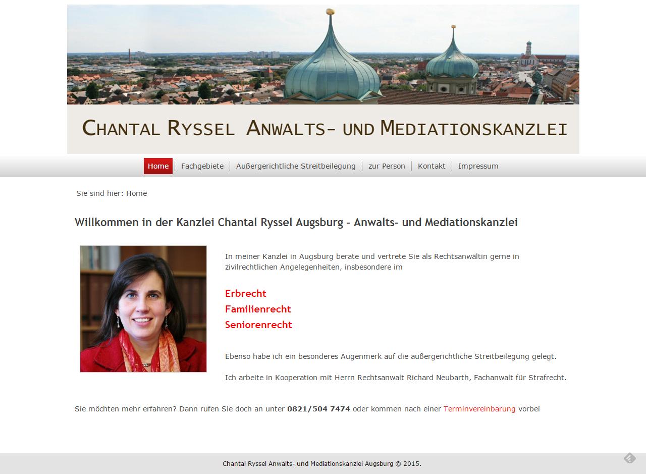 Projekt Kanzlei Chantal Ryssel Augsburg