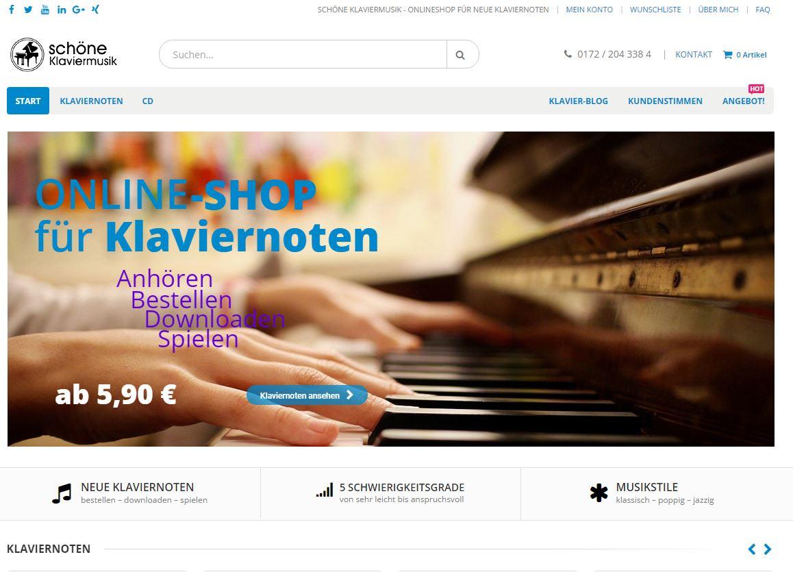 Online-Shop für schöne Klaviermusik